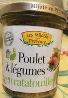 Poulet et legumes en ratatouille - Product
