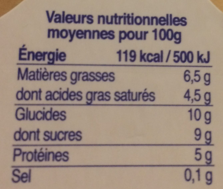 Veloutés au Lait de Brebis Nature - Nutrition facts - fr