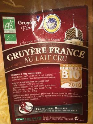Gruyère France au lait cru (33% MG) - Product
