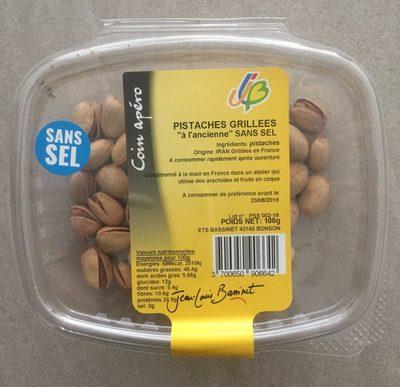 Pistaches grilllees a l'ancienne sans sel - Produit - fr