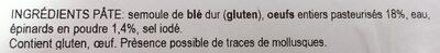 Taglioni aux épinards - Ingrédients