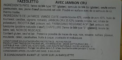 Fazzoletto au jambon cru CORTE DEL GUSTO - Ingredients
