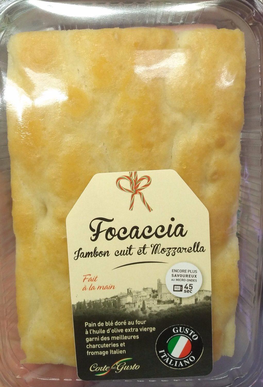 Focaccia Jambon Cuit et Mozzarella - Produit