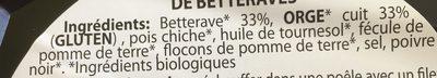 Galette de legumes betteraves - Ingrédients - fr