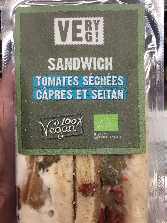 Sandwich tomates séchées câpres et seitan - Product