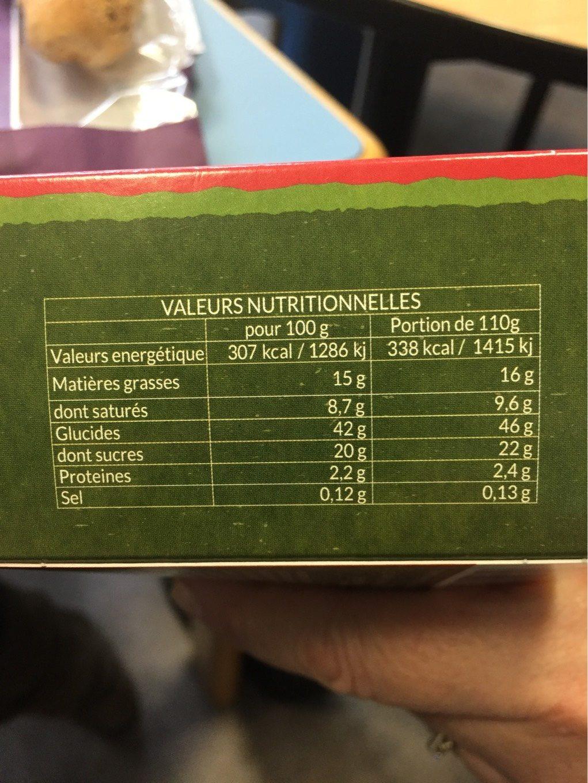 Delice framboise myrtilles - Informations nutritionnelles