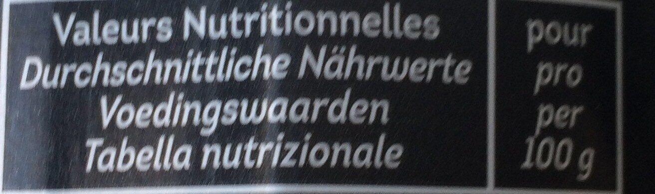 Huile d'Olive Bio et Ecologique - Voedingswaarden - fr