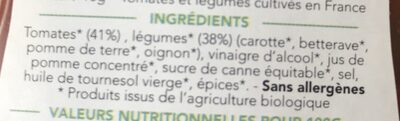 L'incroyable Ketchup - Ingrédients - fr