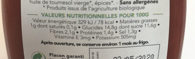 L'incroyable Ketchup - Informations nutritionnelles