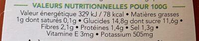 L'incroyable Ketchup - 100% santé - Informations nutritionnelles - fr