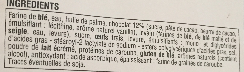 12 pains au chocolat - Ingrediënten - fr