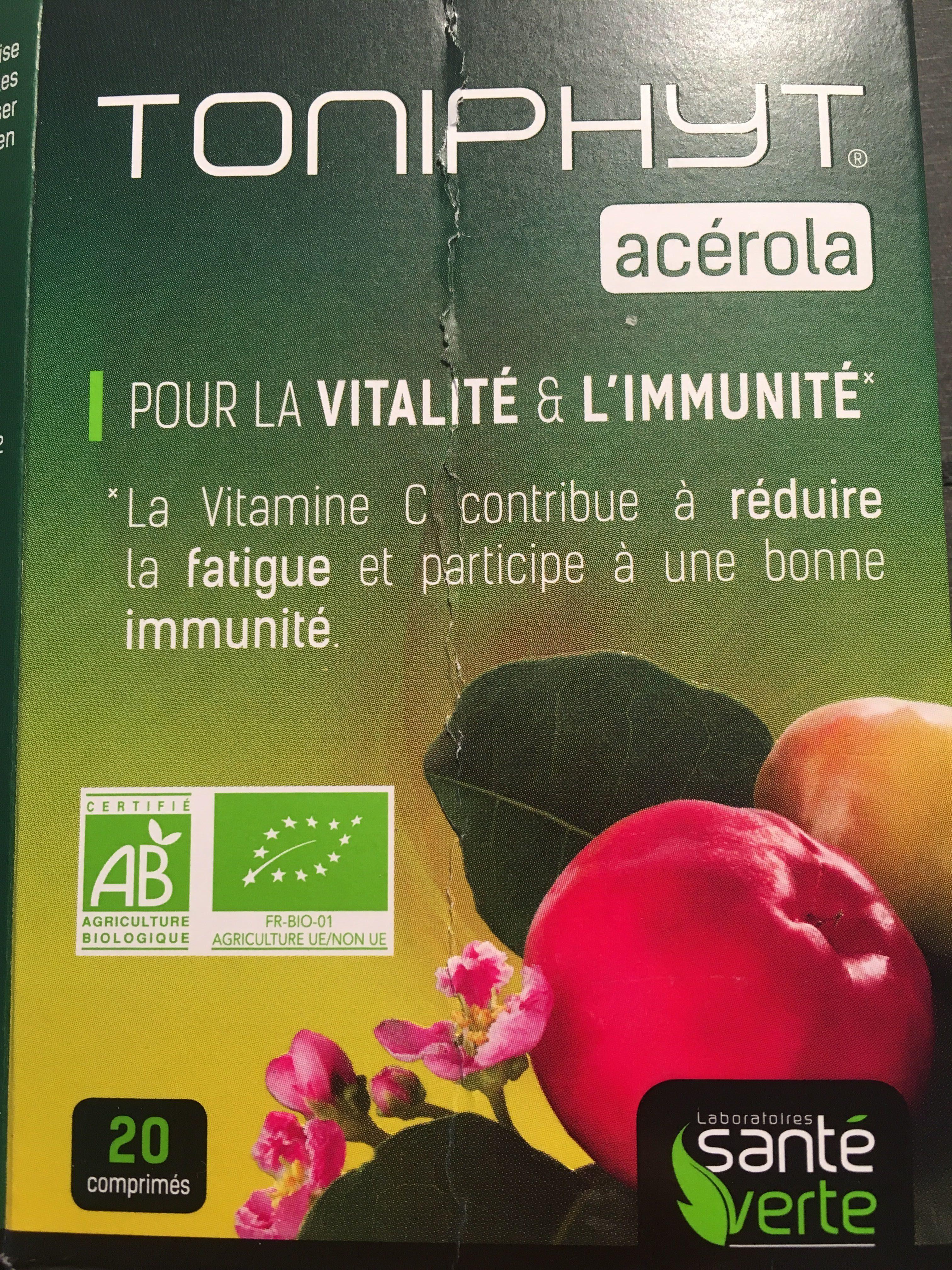 Santé Verte Toniphyt Acérola. BT - Produit - en