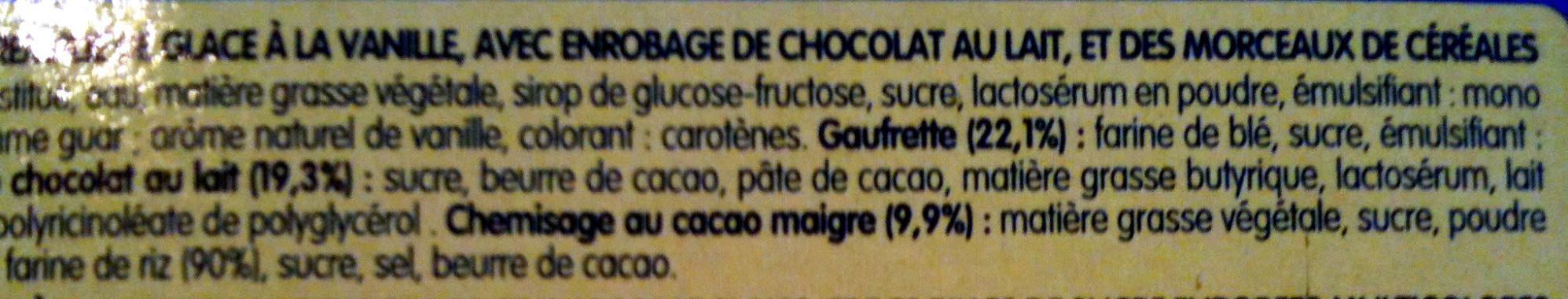 MiniCônes Vanille - Ingrediënten