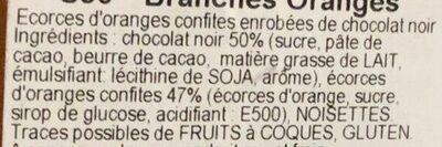 Branches oranges - Ingredienti - fr