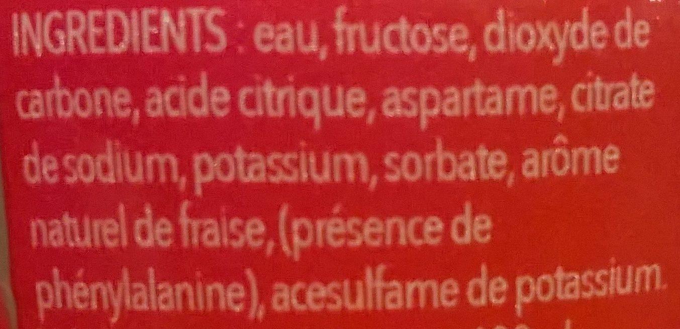 Des fruits et des bulles goût fraise - Ingrediënten