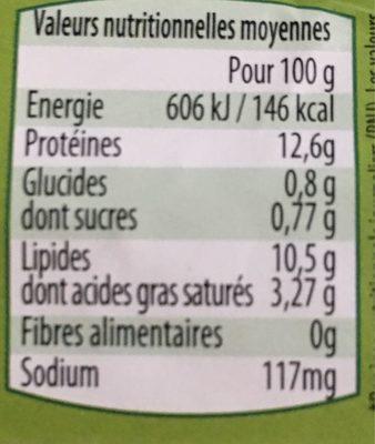 6 œufs Bio - Voedingswaarden - fr