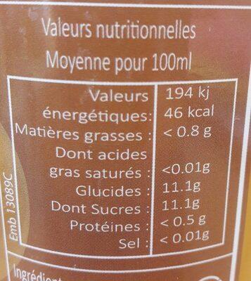 Pur Jus de Pomme - Valori nutrizionali - fr