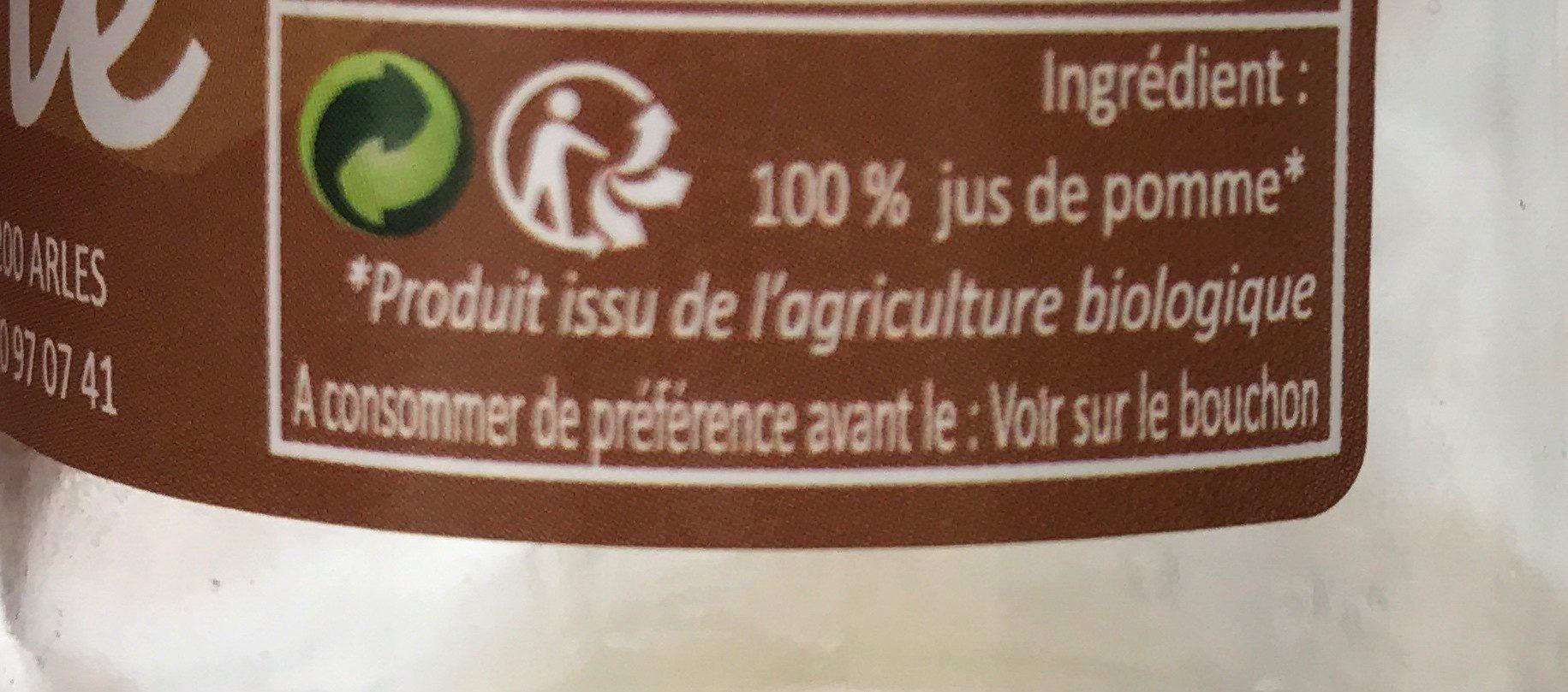 Pur jus de pomme - Ingredienti - fr