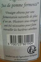 Vinaigre de cidre - Ingrédients - fr