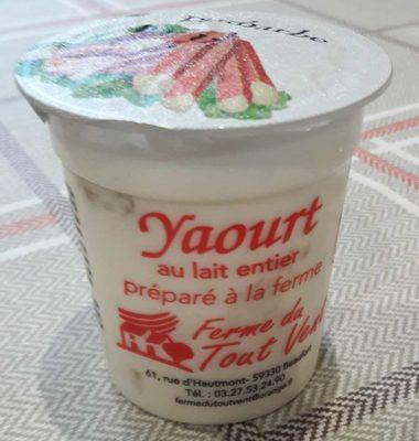 Yaourt au lait entier préparé à la ferme - Produit