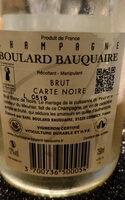 Champagne Boulard Bauquaire - Ingrédients - fr