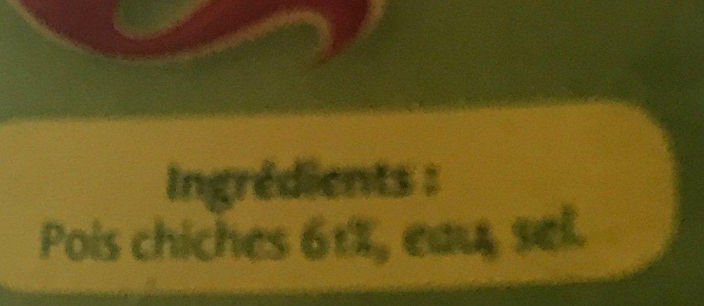 Pois Chiches au Naturel - Ingredienti - fr