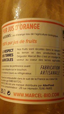 Pur jus d'orange - Ingrediënten