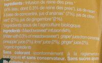 Tisane glacée bio ananas - gingembre - Ingrédients