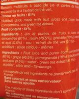 Bahia Grenade Açai & Thé Vert - Ingrediënten - fr