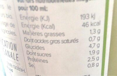 Soupe Bio Petits Pois, Concombre, Menthe - Valori nutrizionali - fr