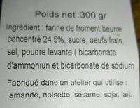 Palets bretons - Ingredienti - fr