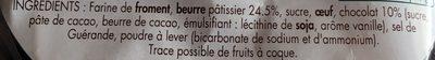 Palets Pur Beurre Pépites de Chocolat - Inhaltsstoffe - fr
