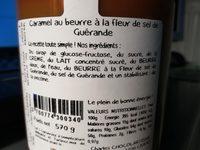 Caramel au beurre salé, fleur de sel de Guérande - Ingredients