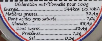 Blanc & cookies noirs - Nutrition facts - fr