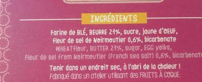 Molettes beurres & fleur de sel - Ingrédients