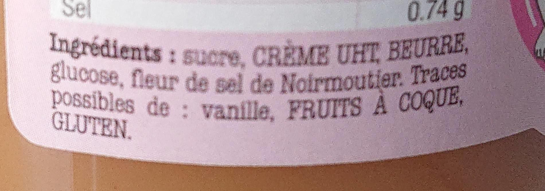 Le Caramel de NOIRMOUTIER - Ingrediënten - fr