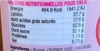 Le Caramel Cacahuète - Nutrition facts - fr