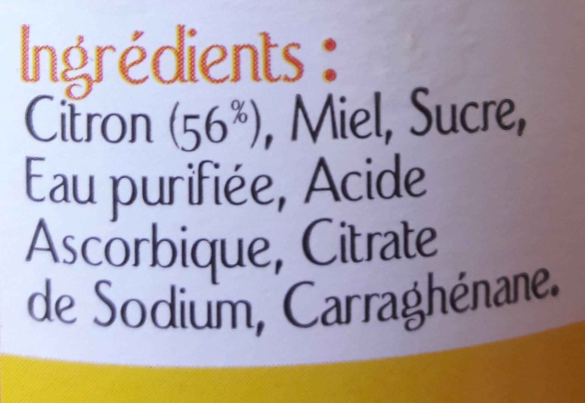 Gelée au citron infus boisson - Ingrédients - fr