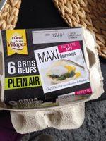 6 gros œufs plein air - Ingrédients - fr