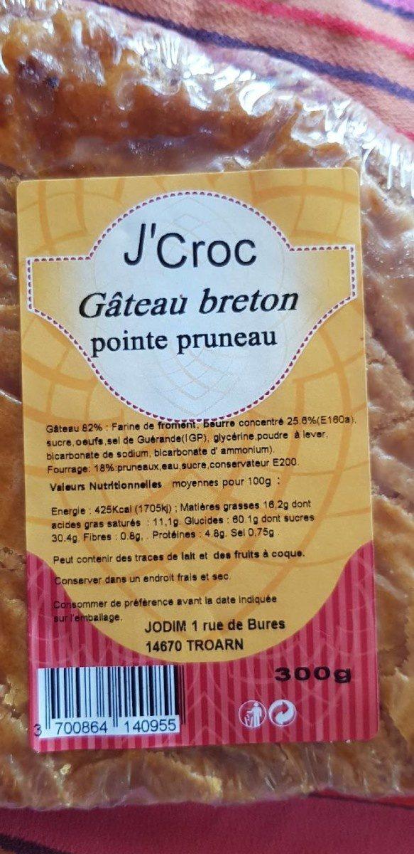 J'Croc - Gâteau Breton Pointe Pruneau - Produit
