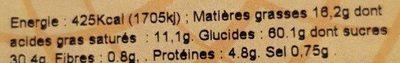 J'Croc - Gâteau Breton Pointe Pruneau - Informations nutritionnelles