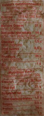 Mozzarella Râpée Makabi - Voedingswaarden - fr