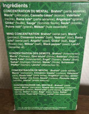 Concentration du mental - Ingredienti - fr