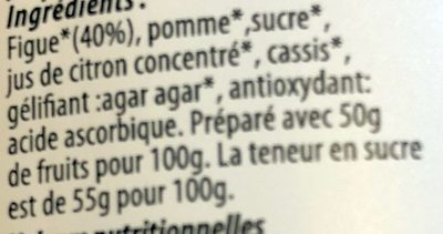 Pâte à Tartiner à la Figue - Ingredienti - fr