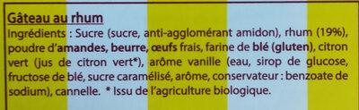 Le Fondant Baulois - Ingredientes - fr