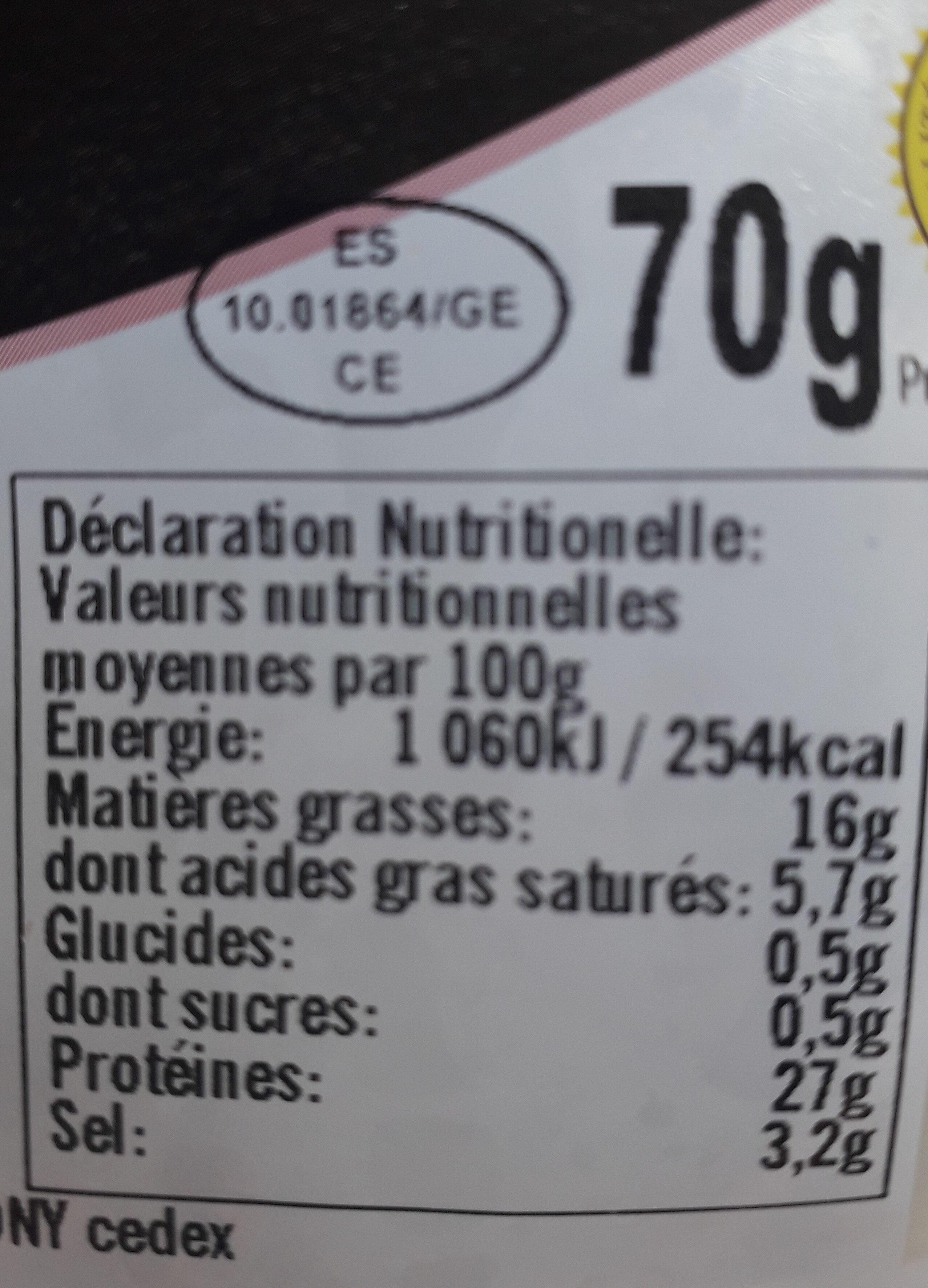 L'assiette d'Antoine - Informations nutritionnelles - fr