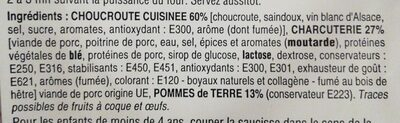 Choucroute d'Alsace garnie - Ingrediënten - fr