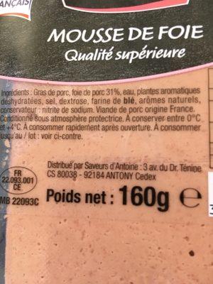 Mousse de foie - Ingrédients