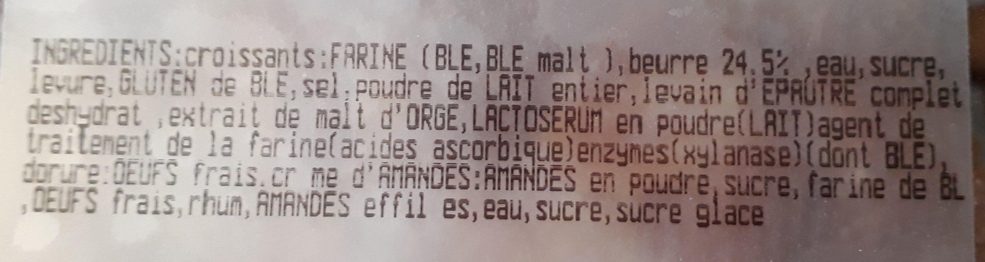 Croissants amandes - Ingrédients - fr