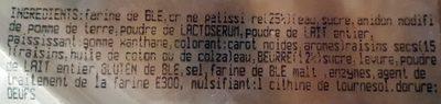 Pains au raisin, pur beurre - Ingrédients - fr